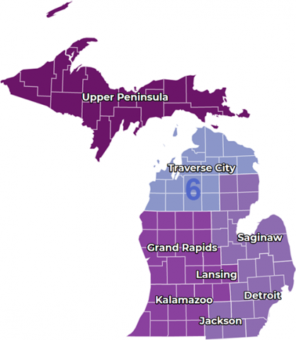 Michigan Safe Start Regions